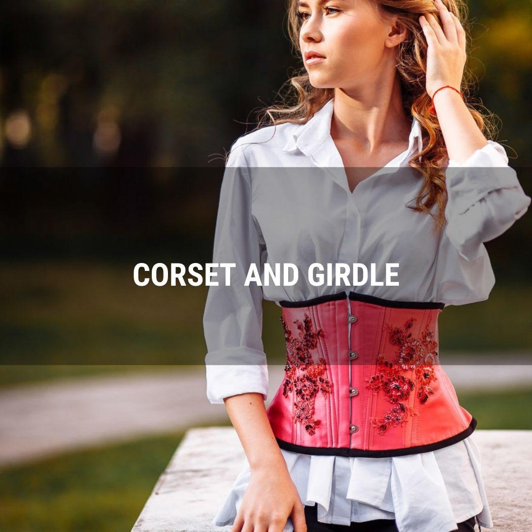 Corset and girdle